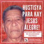Amihan demands justice for death of sick and elderly peasant political prisoner Jesus Alegre