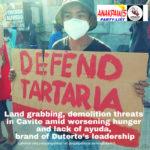 Land grabbing, demolition threats in Cavite amid worsening hunger and lack of ayuda, brand of Duterte's leadership