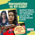 Representation for who? Amihan blasts fake partylists for shrinking spaces for marginalized voices